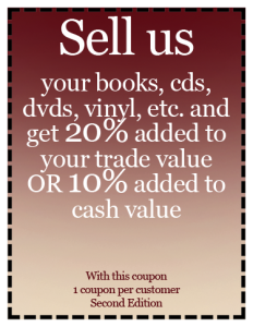 Second Edition Books and Music | Sell To Us & Get Discounts Coupon